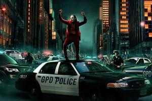 Joker Dancing On Cop Car 4k