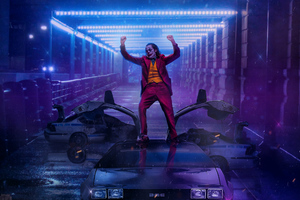 Joker Dancing On DMC DeLorean