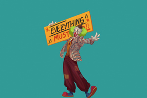 Joker Everything Must Go Wallpaper