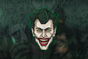 Joker Face Art Wallpaper