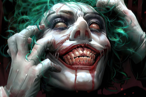 Joker Face Closeup 4k