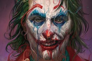 Joker Face Closeup