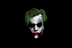 Joker Face Minimalism Wallpaper