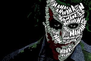 Joker Face Text Artwork