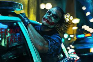 Joker Freely Drive Wallpaper