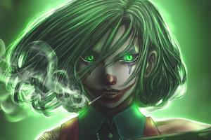 Joker Girl Art 4k Wallpaper