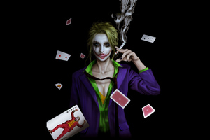 Joker Girl Smoking Wallpaper