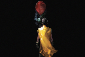 Joker Giving Balloon To Robin Wallpaper