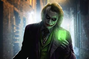 Joker Green Card Wallpaper