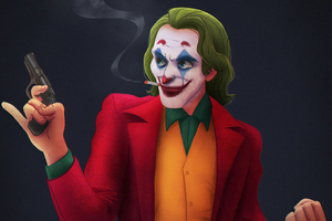 Joker Gun 4k Wallpaper