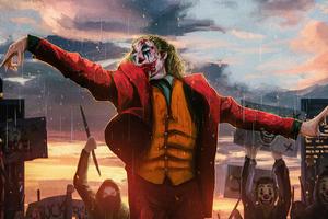 Joker Hands Up Wallpaper
