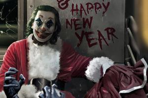 Joker Happy New Year Wallpaper