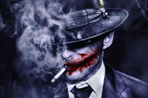 Joker Hat Smoker