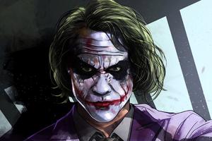 Joker Heath Artwork Wallpaper