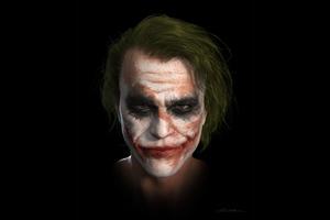 Joker Heath Ledger 4k Art