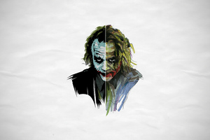 Joker Heath Ledger Artwork 4k Wallpaper