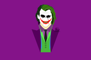 Joker Heath Ledger Artwork Wallpaper
