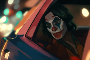 Joker In Car 4k Wallpaper