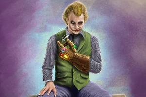 Joker Infinity Gauntlet Wallpaper
