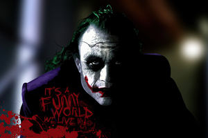 Joker Its Funny World We Live Wallpaper