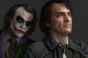 Joker Joaquin Phoenix Heath Ledger 4k