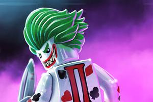 Joker Lego Smiling Wallpaper