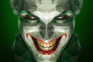 Joker Low Poly Art
