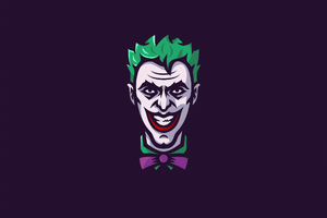 Joker Minimal Art Wallpaper