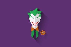 Joker Minimal Artwork Wallpaper