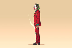 Joker Minimalism 4k 2020 Wallpaper