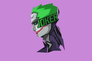 Joker Minimalism 8k Wallpaper