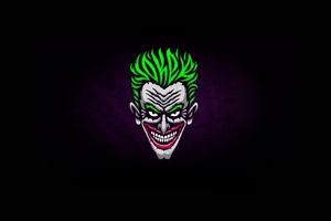 Joker Minimalist Logo 4k Wallpaper