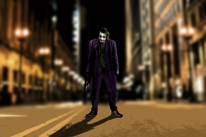 Joker On The Streets Wallpaper