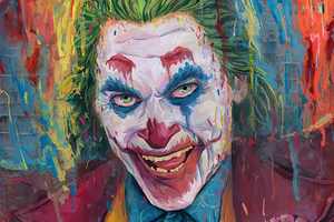 Joker Paint Artwork 4k