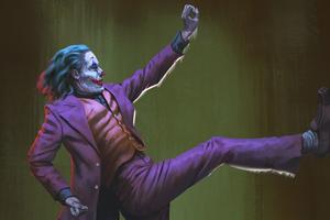 Joker Purple Coat Wallpaper