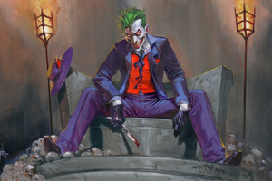 Joker Sitting Wallpaper
