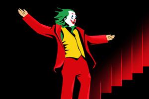 Joker Sketch Art Stairs Wallpaper