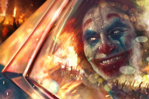 Joker Smile City Burn Wallpaper