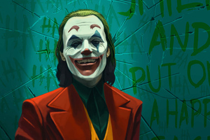 Joker Smile Laugh Art Wallpaper