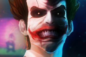 Joker Smiling Art HD