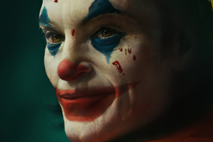 Joker Smiling Closeup