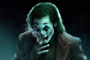 Joker Smoker Art 4k