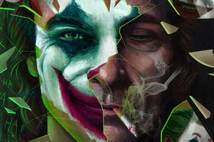 Joker Smoker Artwork 4k