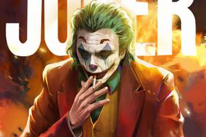 Joker Smoker4k Wallpaper