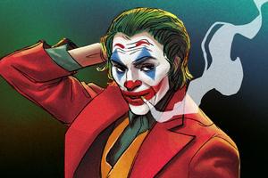 Joker Smoking Illustration 4k