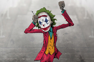 Joker Stair Dance 4k Wallpaper