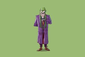 Joker Standing Minimal 4k