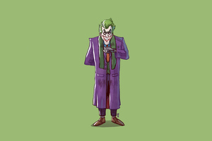 Joker Standing Minimal 4k Wallpaper