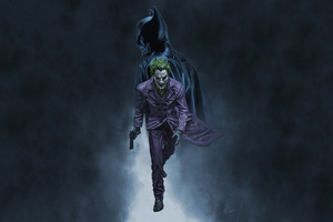 Joker Walking Batman