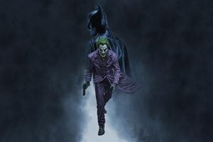 Joker Walking Batman
